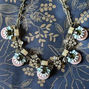 Nwot pink statement art deco necklace